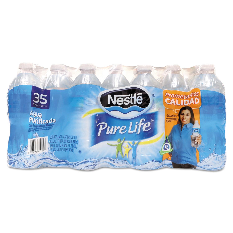 Pure Life Purified Water, 16.9 oz Bottle, 35 Bottles/Carton