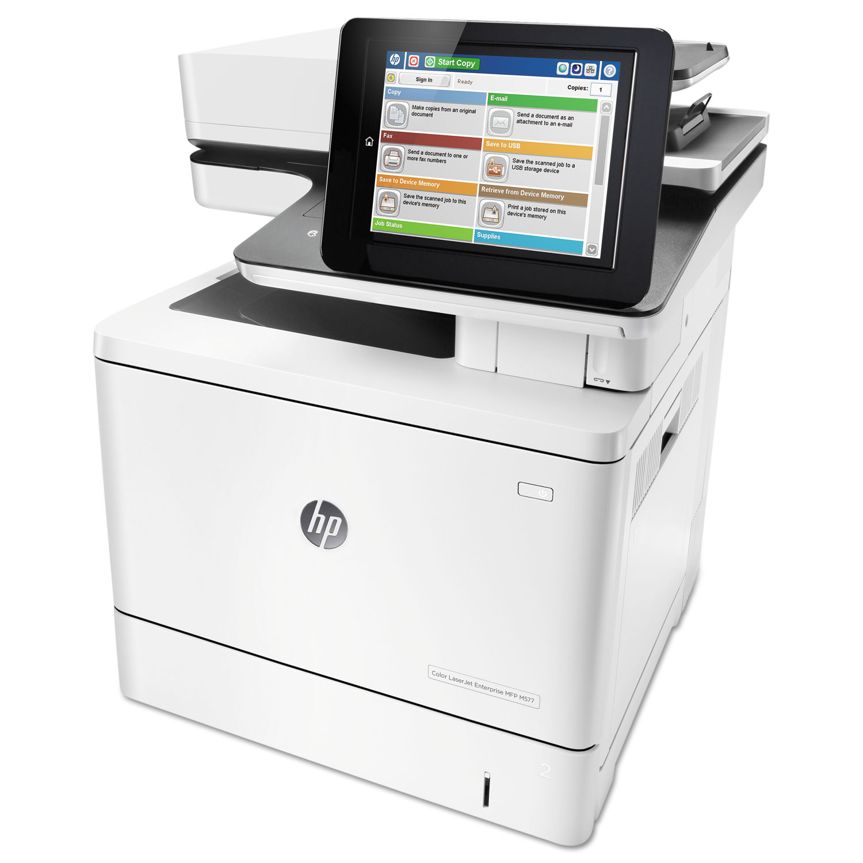 Color LaserJet Enterprise MFP M577f, Copy/Fax/Print/Scan