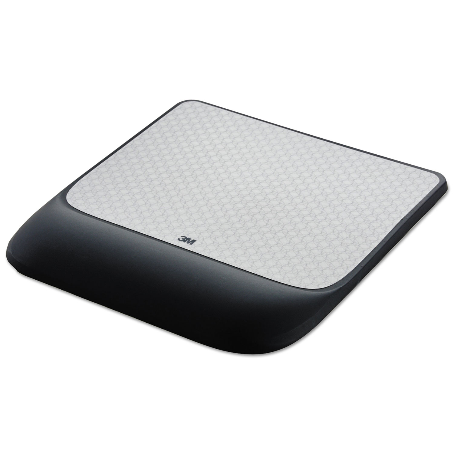 Mouse Pad w/Precise Mousing Surface w/Gel Wrist Rest, 8 1/2x 9x 3/4, Solid Color