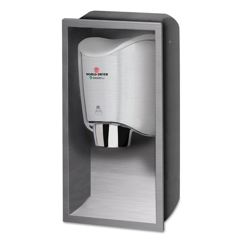 SMARTdri Hand Dryer Recess Kit, 15l x 4w x 25h, Stainless Steel