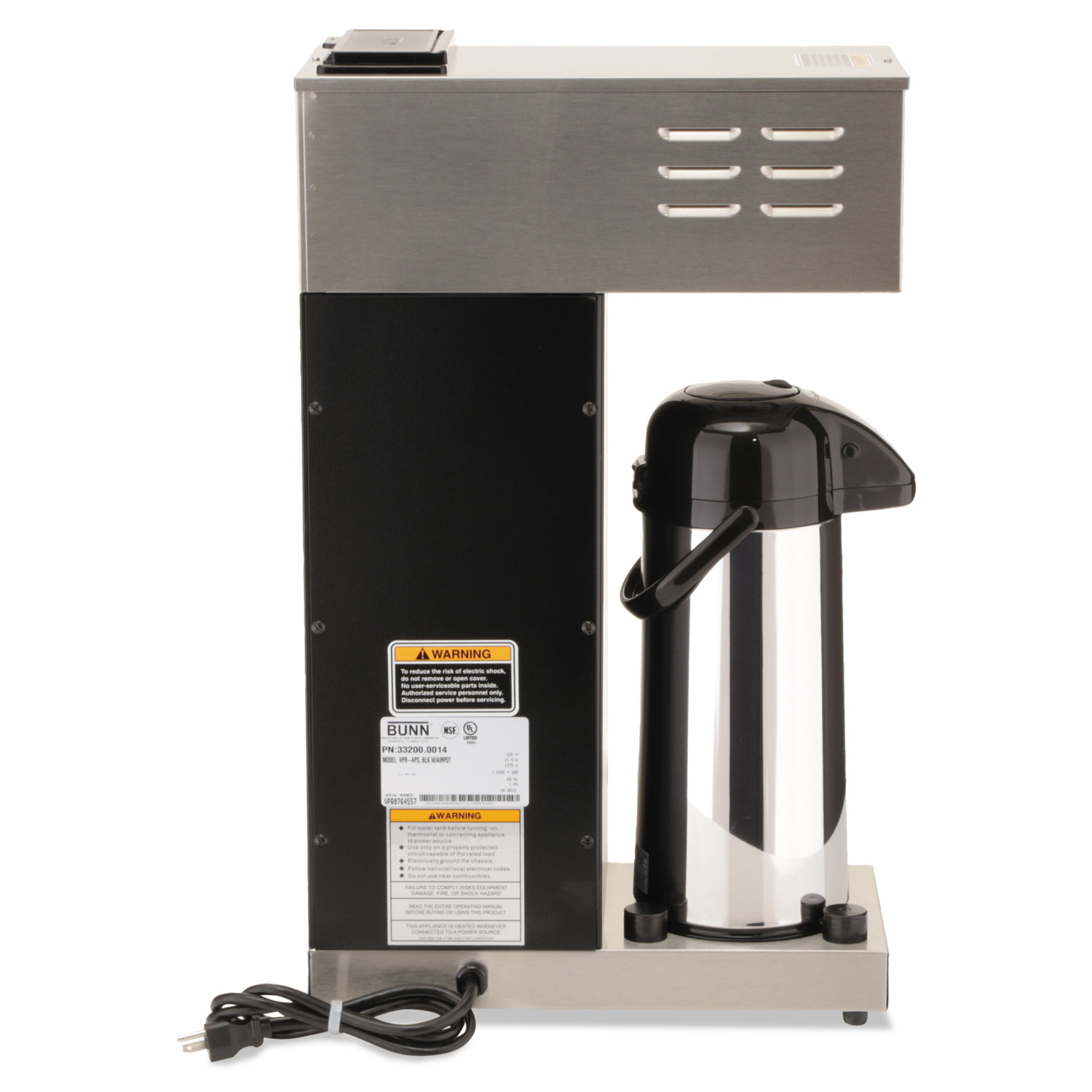 VPR-APS Pourover Thermal Coffee Brewer with 2 2L Airpot
