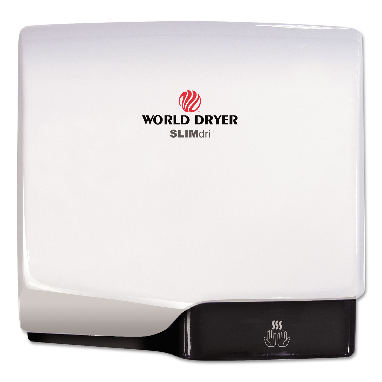 SLIMdri Hand Dryer, Aluminum, White