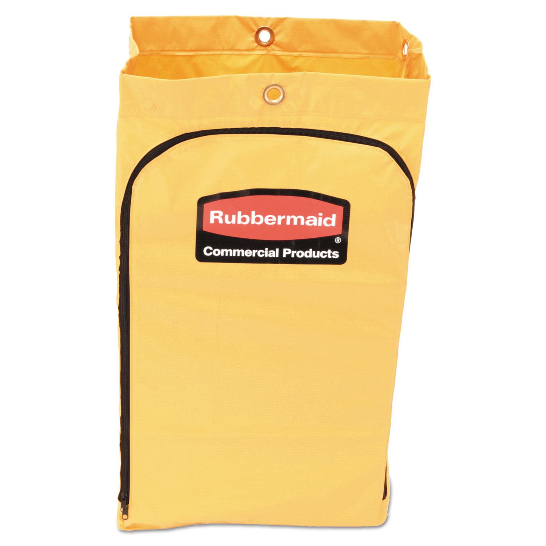 "Zippered Vinyl Cleaning Cart Bag, 24 gal, , 17.25"" x 30.5"", Yellow"