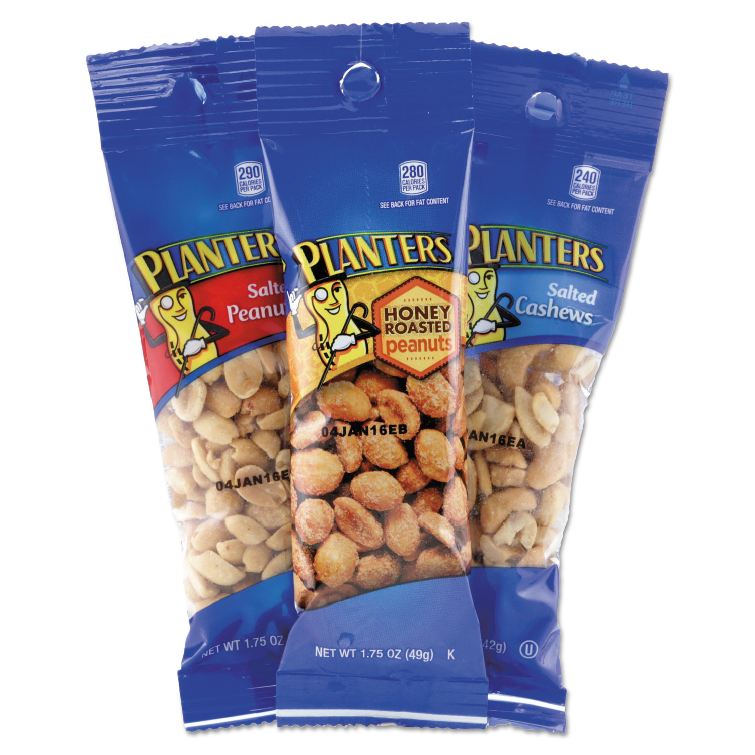 Variety Pack Peanuts & Cashews by Planters® PTN884624 ... on planters honey roasted peanuts, planters peanuts variety, planters peanuts individually wrapped, blue diamond nuts pack, planters nutrition pack, planters heat peanuts, peanut planter pack,