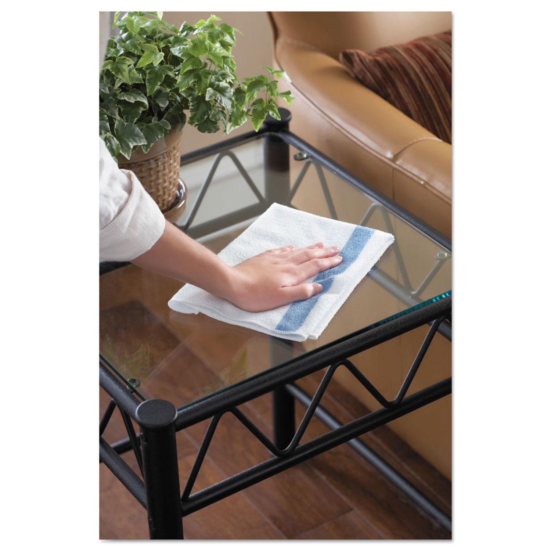 HYGEN Sanitizer Safe Microfiber Cloth, 16 x 19, White/Blue, 288/Carton