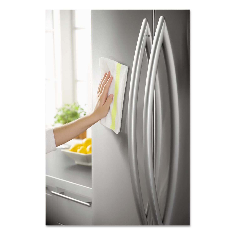 HYGEN Sanitizer Safe Microfiber Cloth, 16 x 19, White/Yellow, 288/Carton