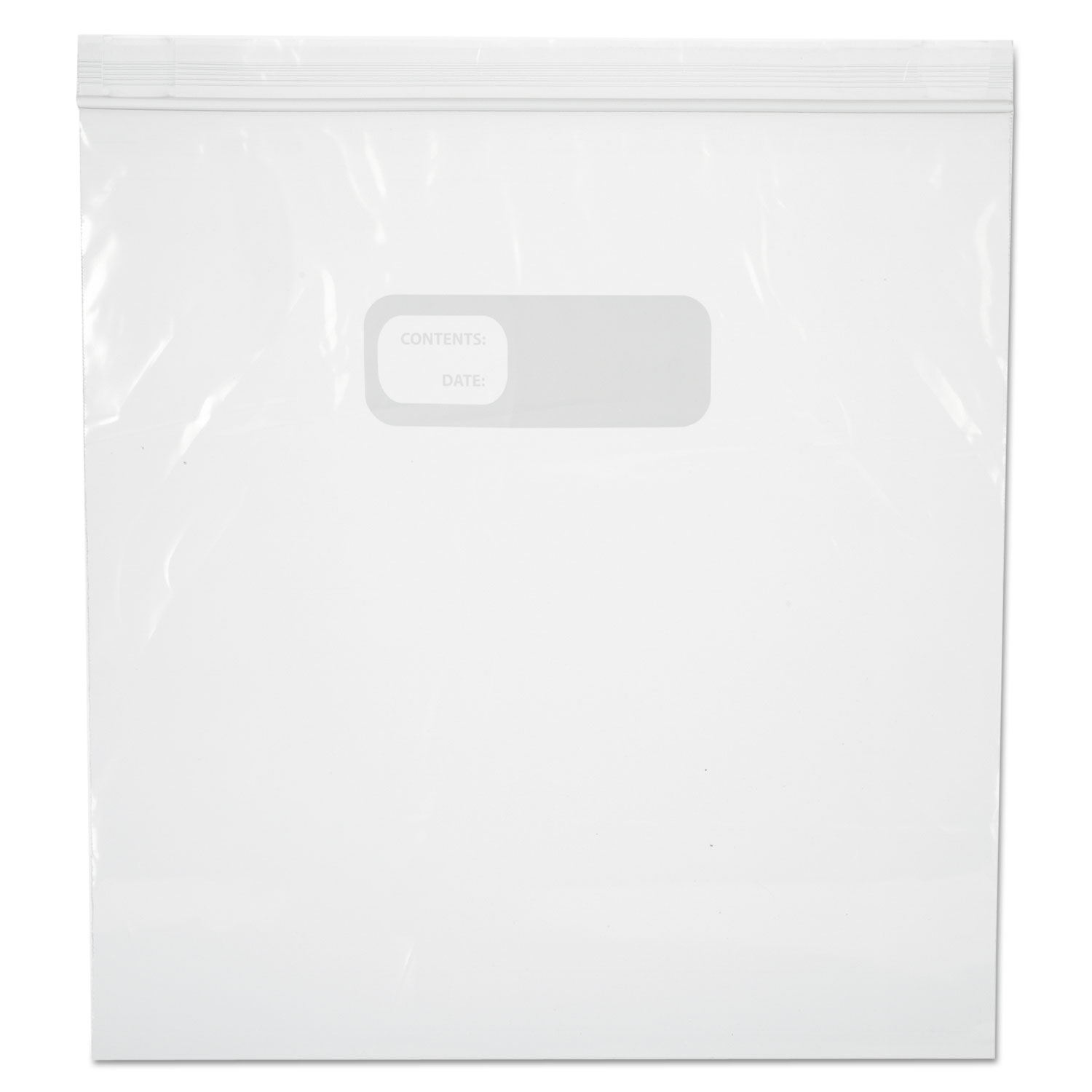"""Reclosable Food Storage Bags, 1 gal, 2.7 mil, 10.5"""" x 11"""", Clear, 250/Box"""