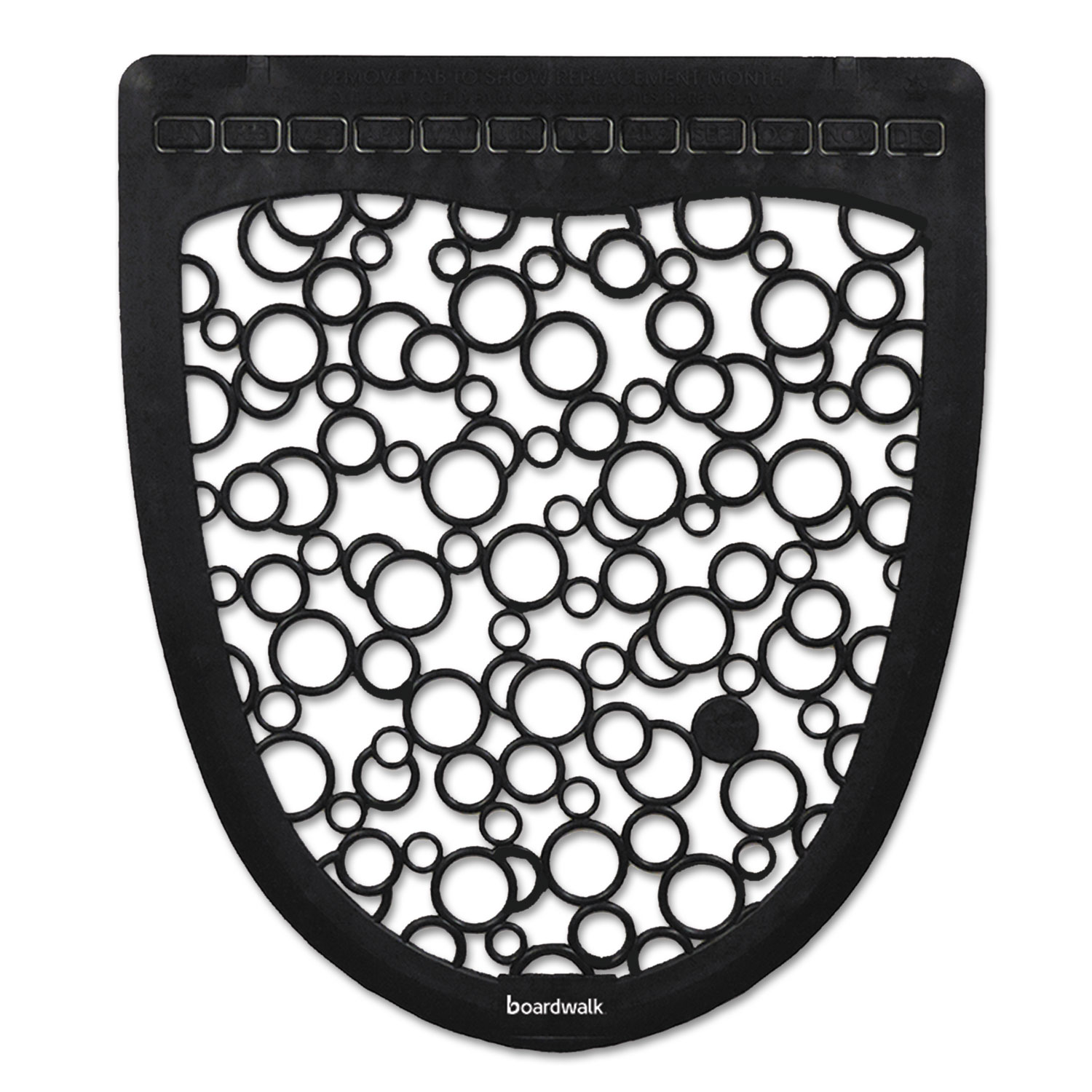 Urinal Mat 2.0, Rubber, 17.5 x 20, Black/White, 6/Carton