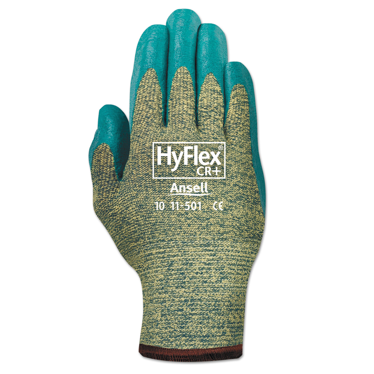 HyFlex Medium-Duty Assembly Gloves, Blue/Green, Size 9, 12 Pairs