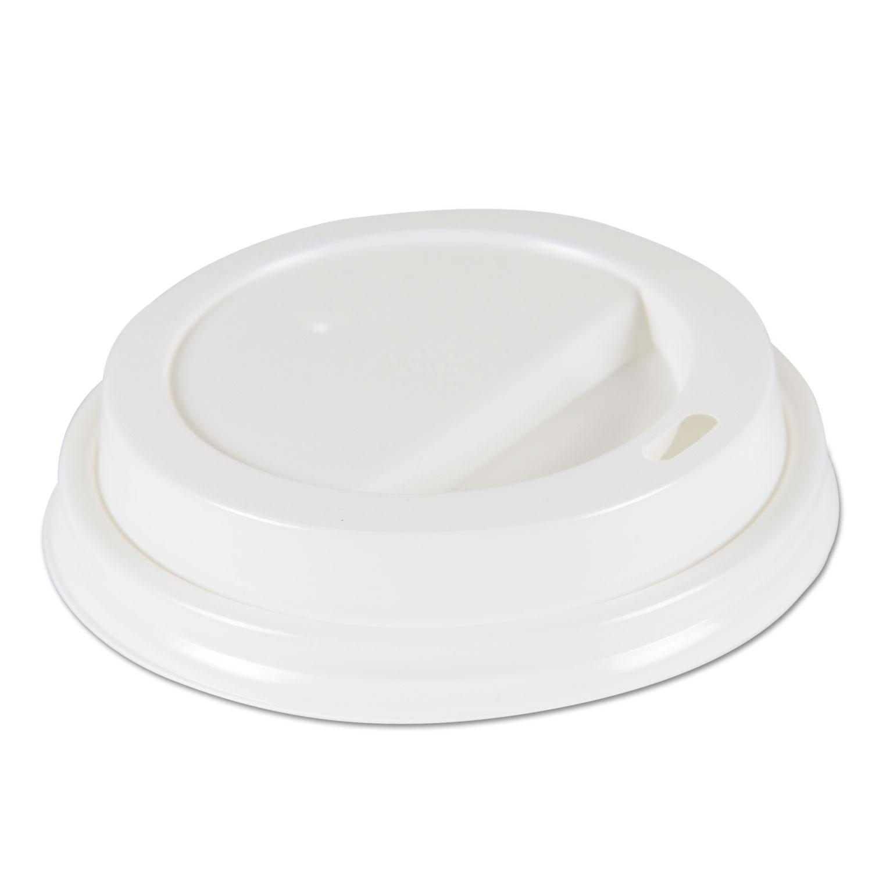 Deerfield Hot Cup Lids for 10oz - 20oz Cups, White, Plastic, 50/PK, 20 PK/Carton