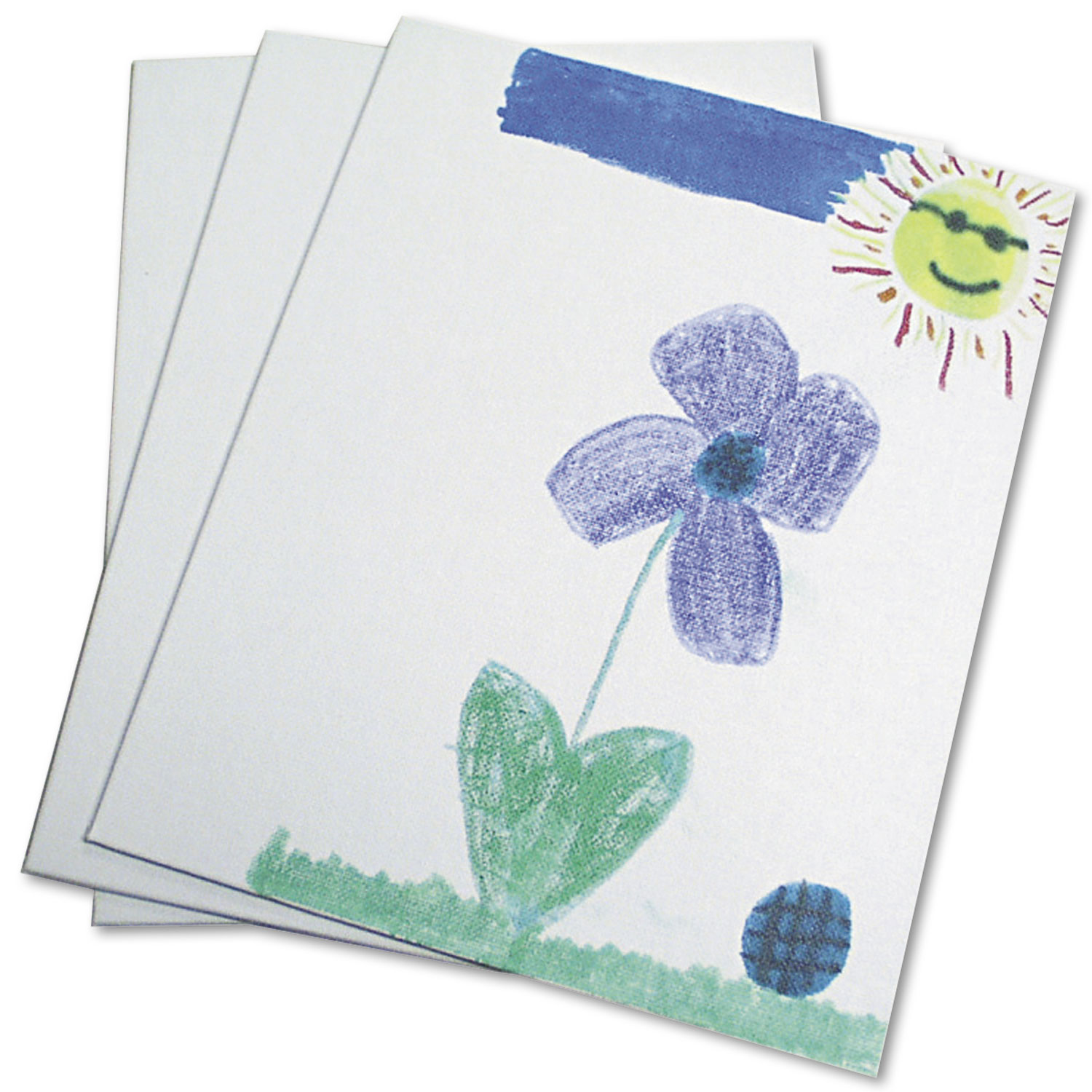 Canvas Panel, 9 x 12 x 0.13, White, 3/Pack