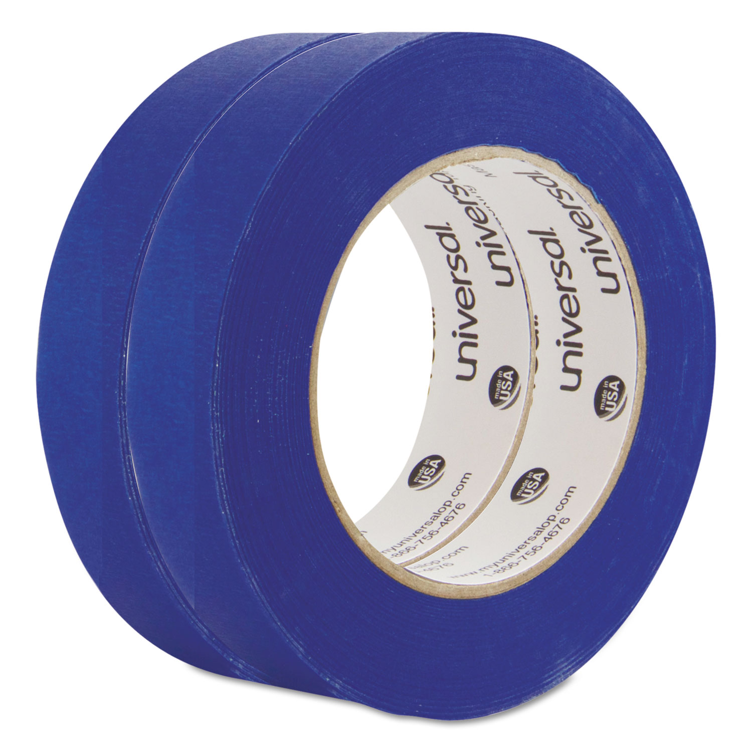 Premium Blue Masking Tape, 24mm X 54.8m, Blue, 2/Pack