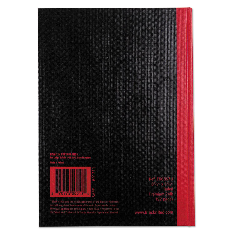 Jdke66857 Black N Red Casebound Notebook Zuma