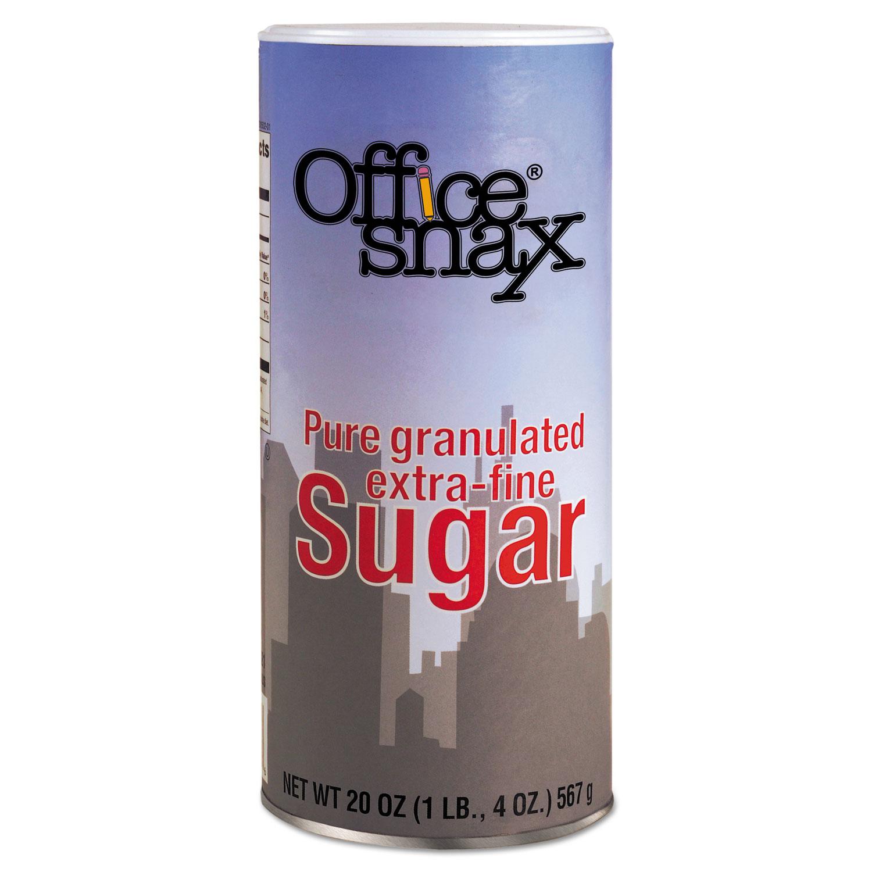 Reclosable Canister of Sugar, 20oz, 24/Carton