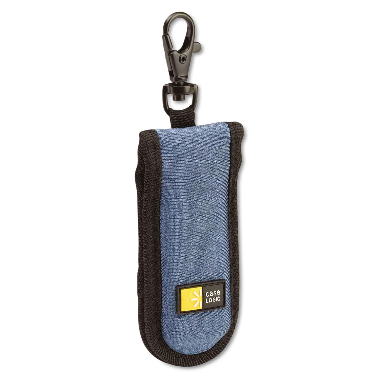USB Drive Shuttle, Holds 2 USB Drives, Blue