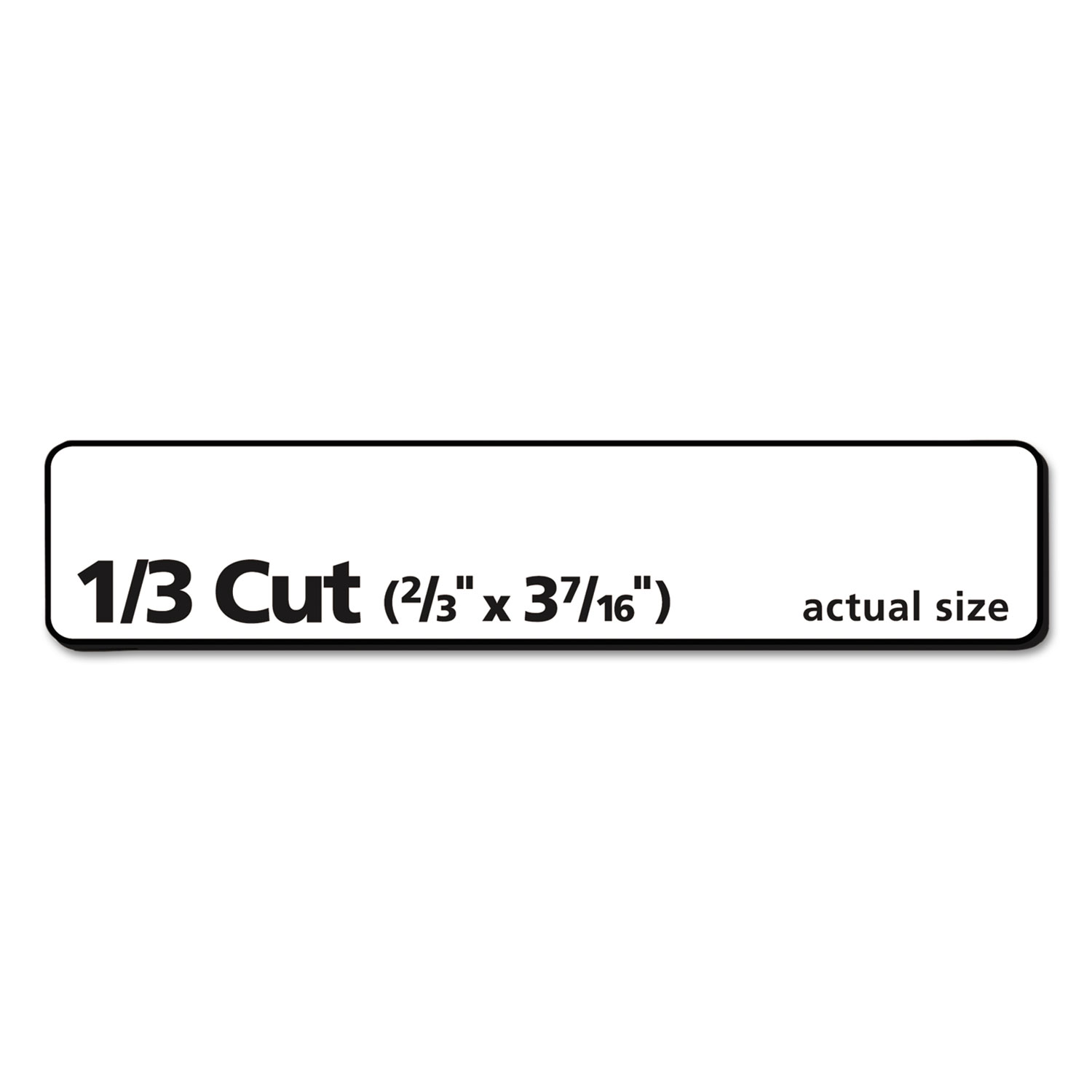 Permanent File Folder Labels by Avery® AVE8366 - OnTimeSupplies.com