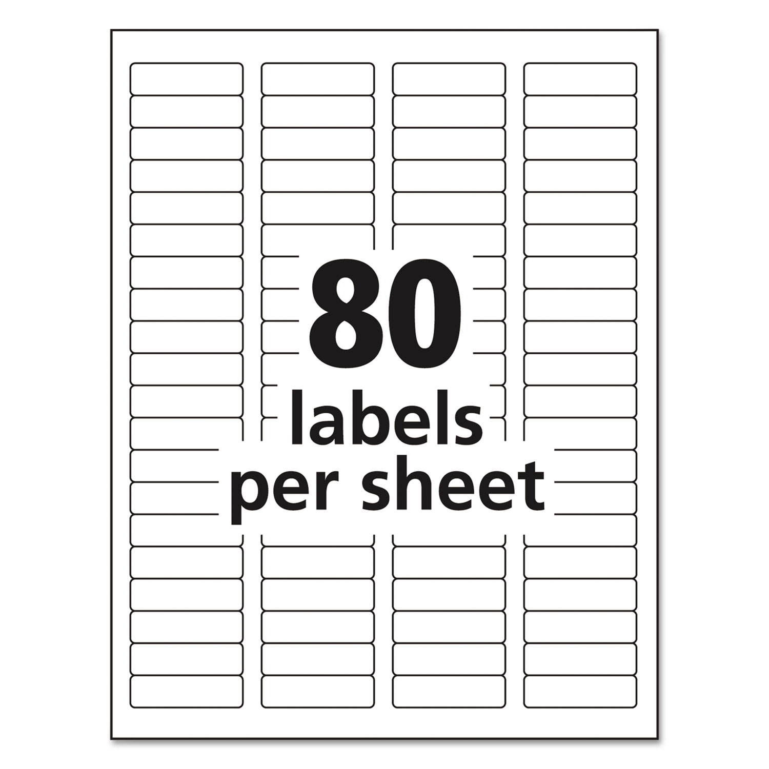 Easy Peel White Address Labels W/ Sure Feed Technology