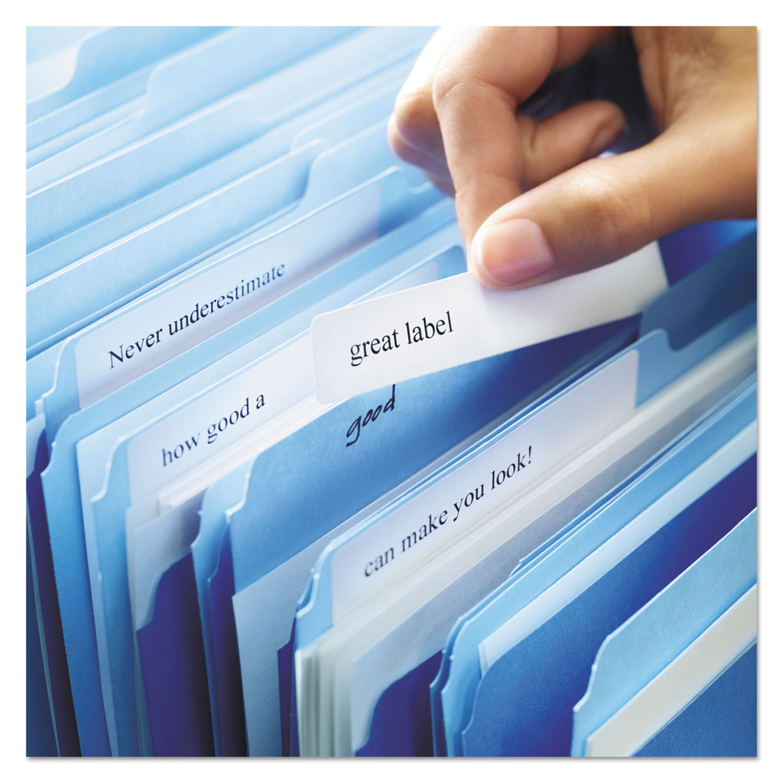 Permanent TrueBlock File Folder Labels w/Sure Feed, Inkjet/Laser, White,  1500/BX