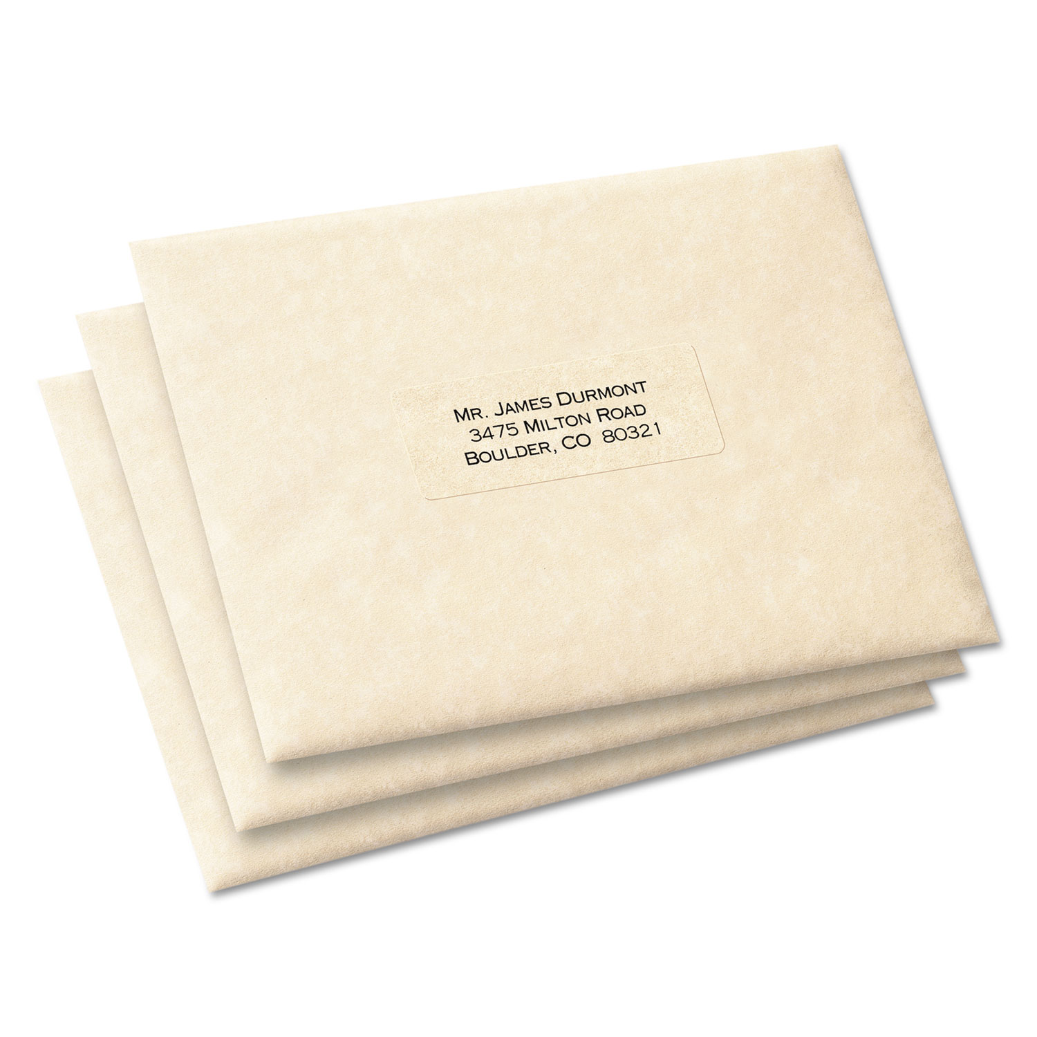matte clear easy peel address labels by avery ave5660
