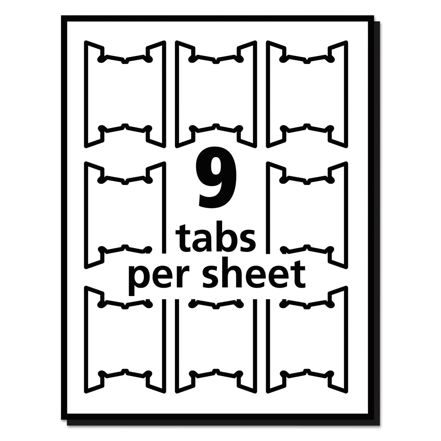 PrintWriteOn Hanging Tabs By Avery AVE OnTimeSuppliescom - Avery print on tabs template