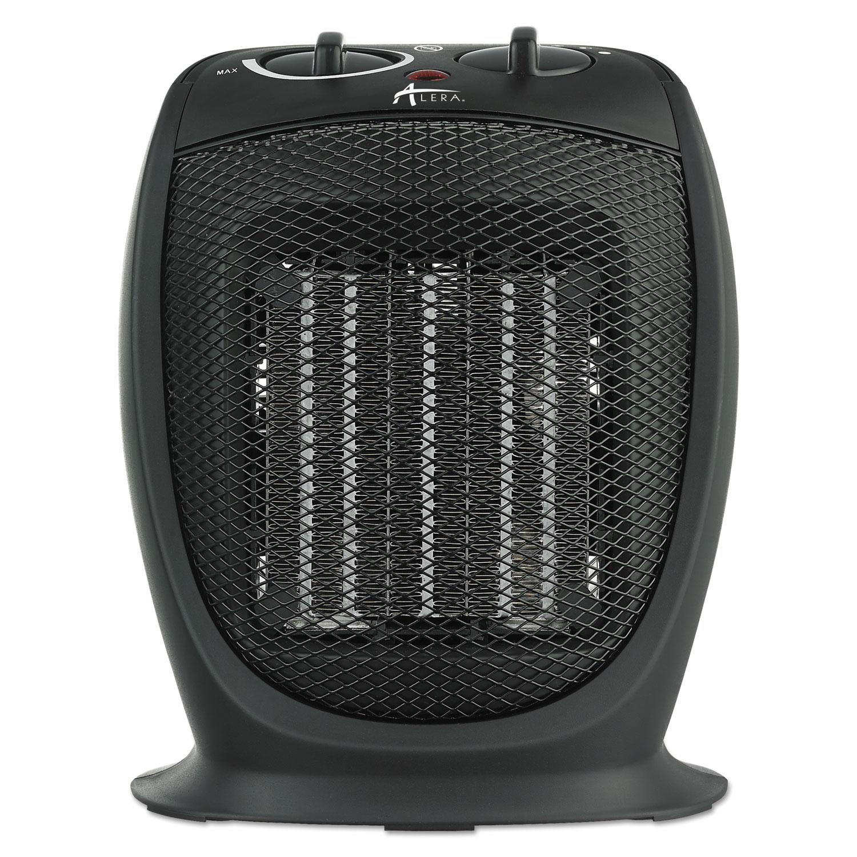 "Ceramic Heater, 7 1/8""w x 5 7/8""d x 8 3/4""h, Black"