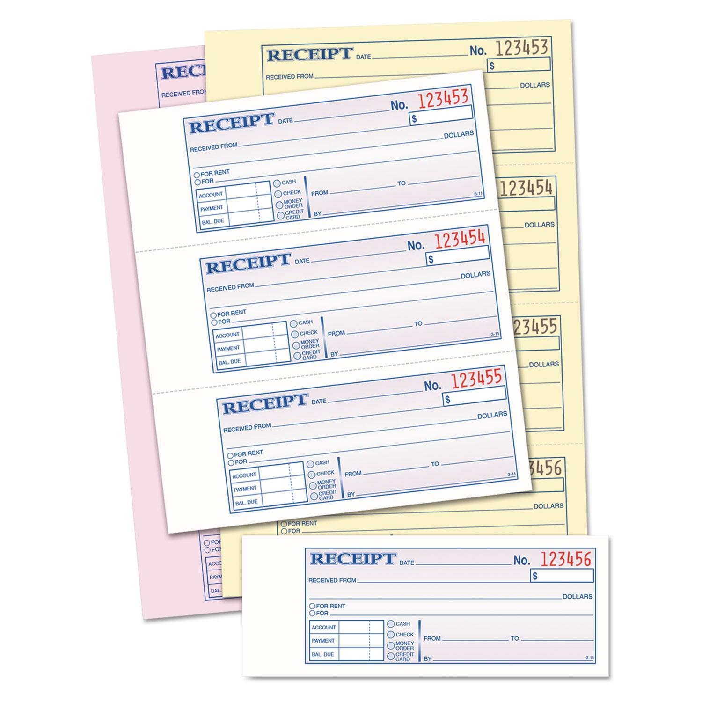 money  rent receipt books by tops u2122 top46808