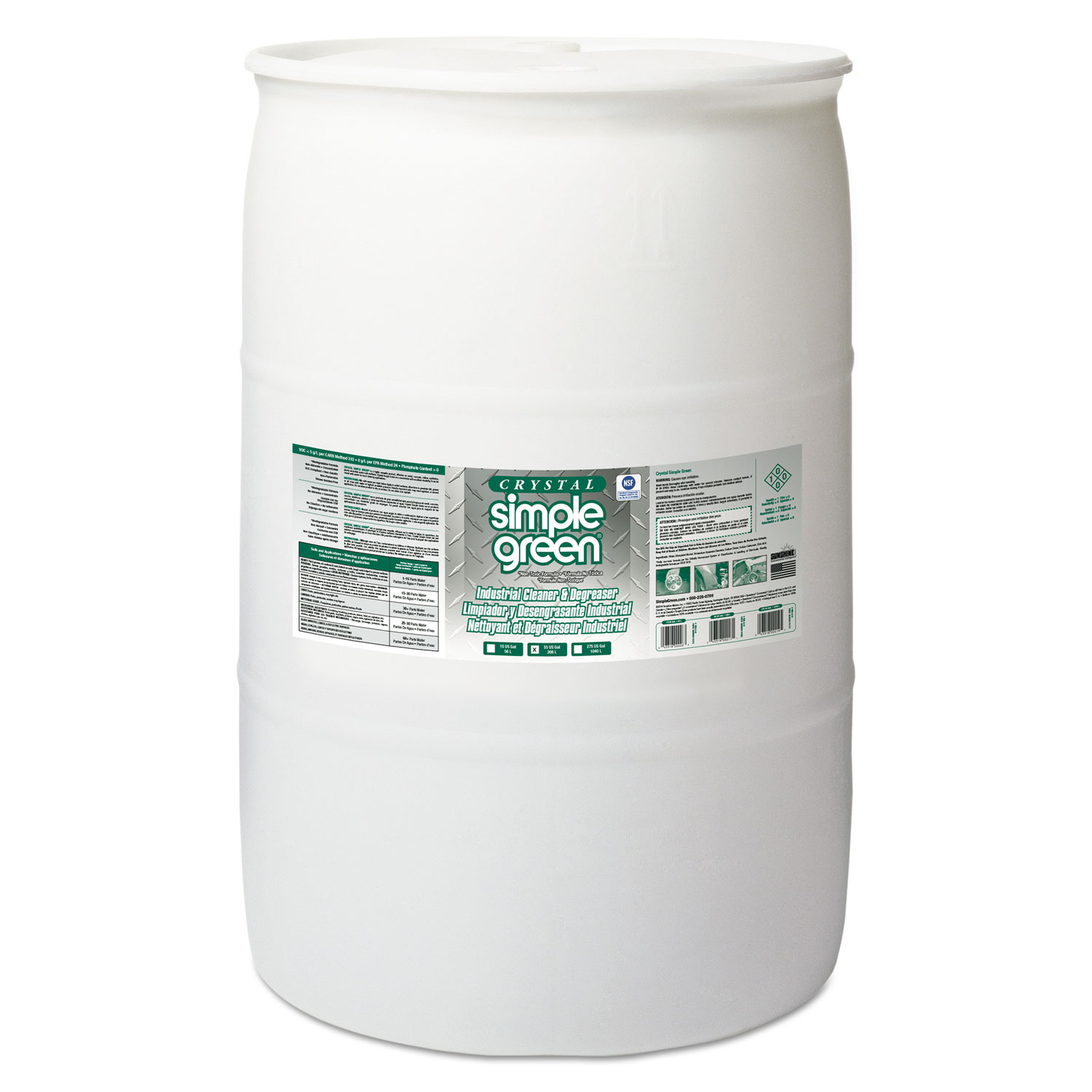 Crystal Industrial Cleaner/Degreaser, 55gal Drum