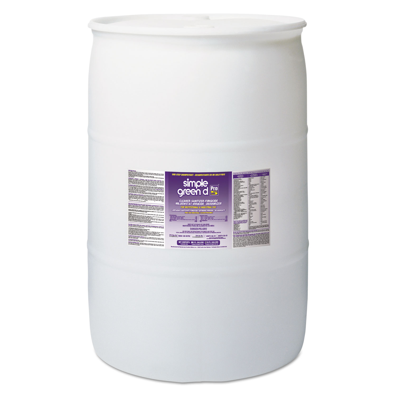d Pro 5 Disinfectant, Unscented, 55 gal Drum