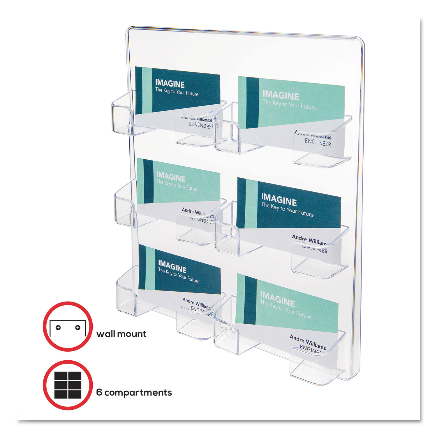 Six pocket wall mount business card holder by deflecto def70601 def70601 thumbnail 1 def70601 thumbnail 2 magicingreecefo Image collections