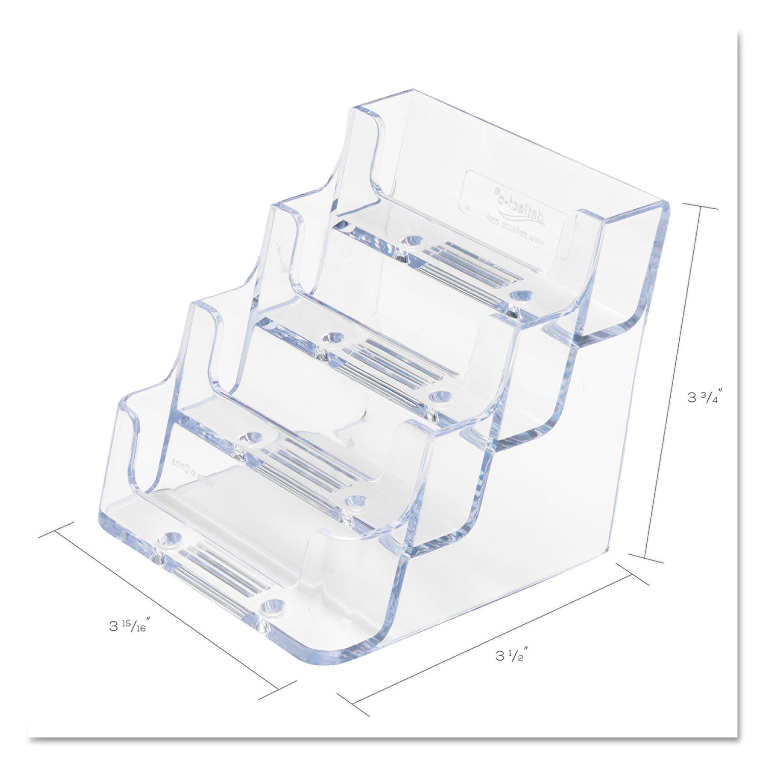Four-Pocket Countertop Business Card Holder by deflecto® DEF70841 ...
