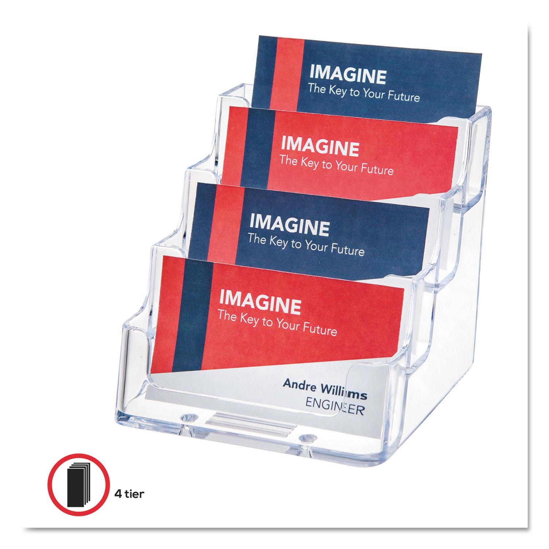 4 Pocket Business Card Holder 200
