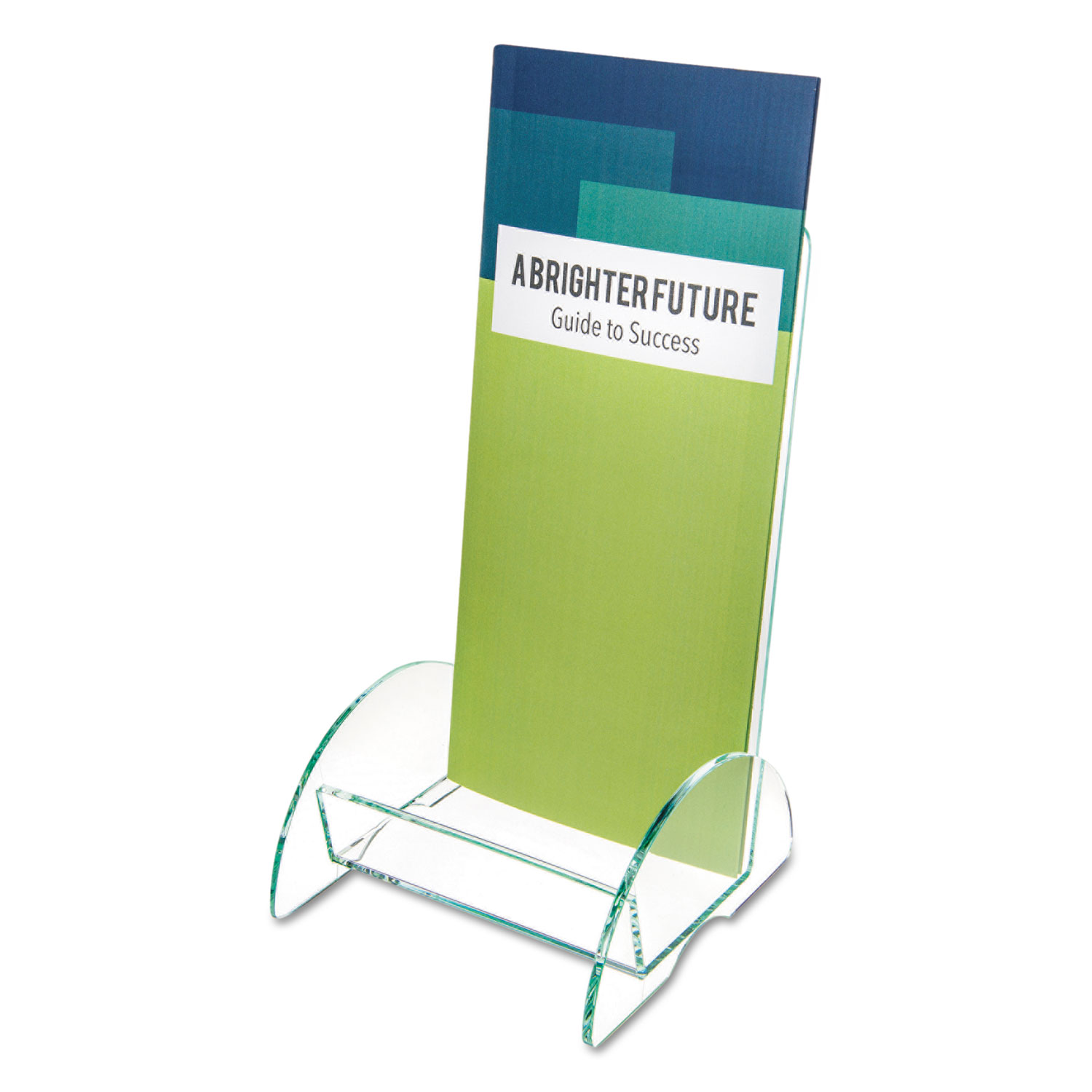 Euro-Style DocuHolder, Leaflet Size, 4.5w x 4.5d x 7.88h, Green Tinted