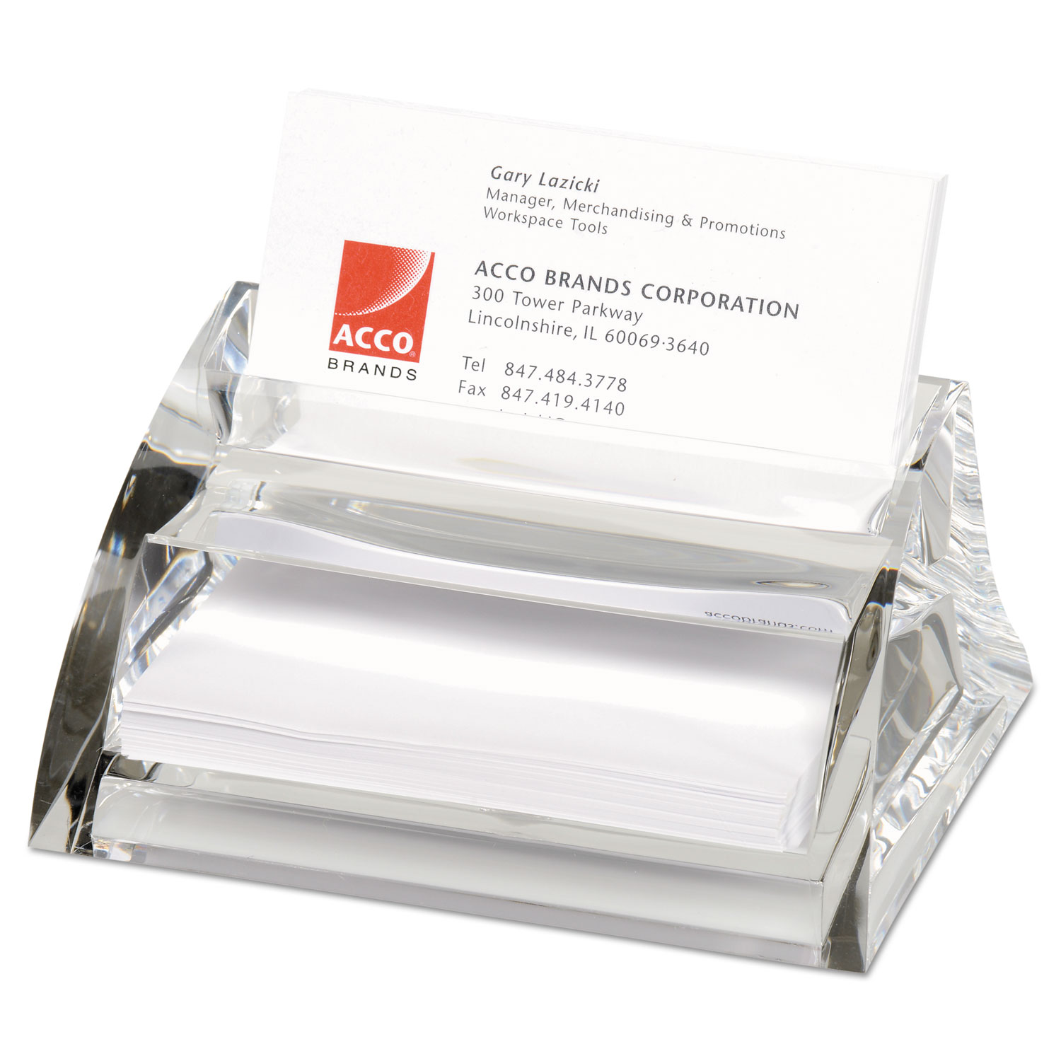 Stratus Acrylic Business Card Holder by Swingline® SWI10135 ...