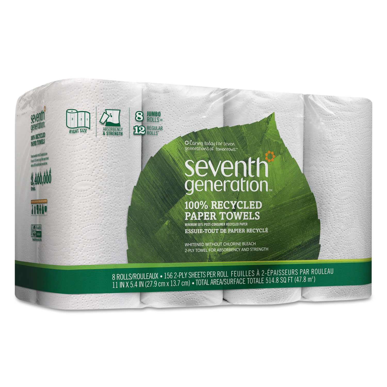 Paper Towel Rolls Telescope: 100% Recycled Paper Towel Rolls By Seventh Generation