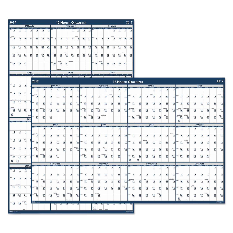 Year Calendar Wall : Recycled laminated write on wipe off jumbo yearly wall