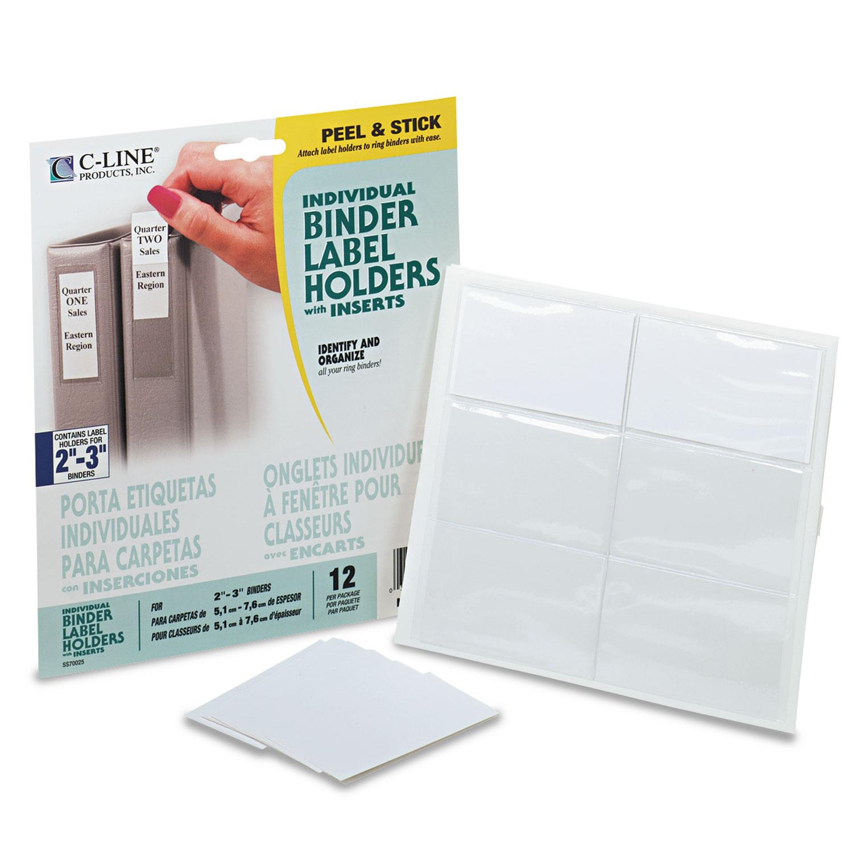 Self-Adhesive Ring Binder Label Holders By C-Line