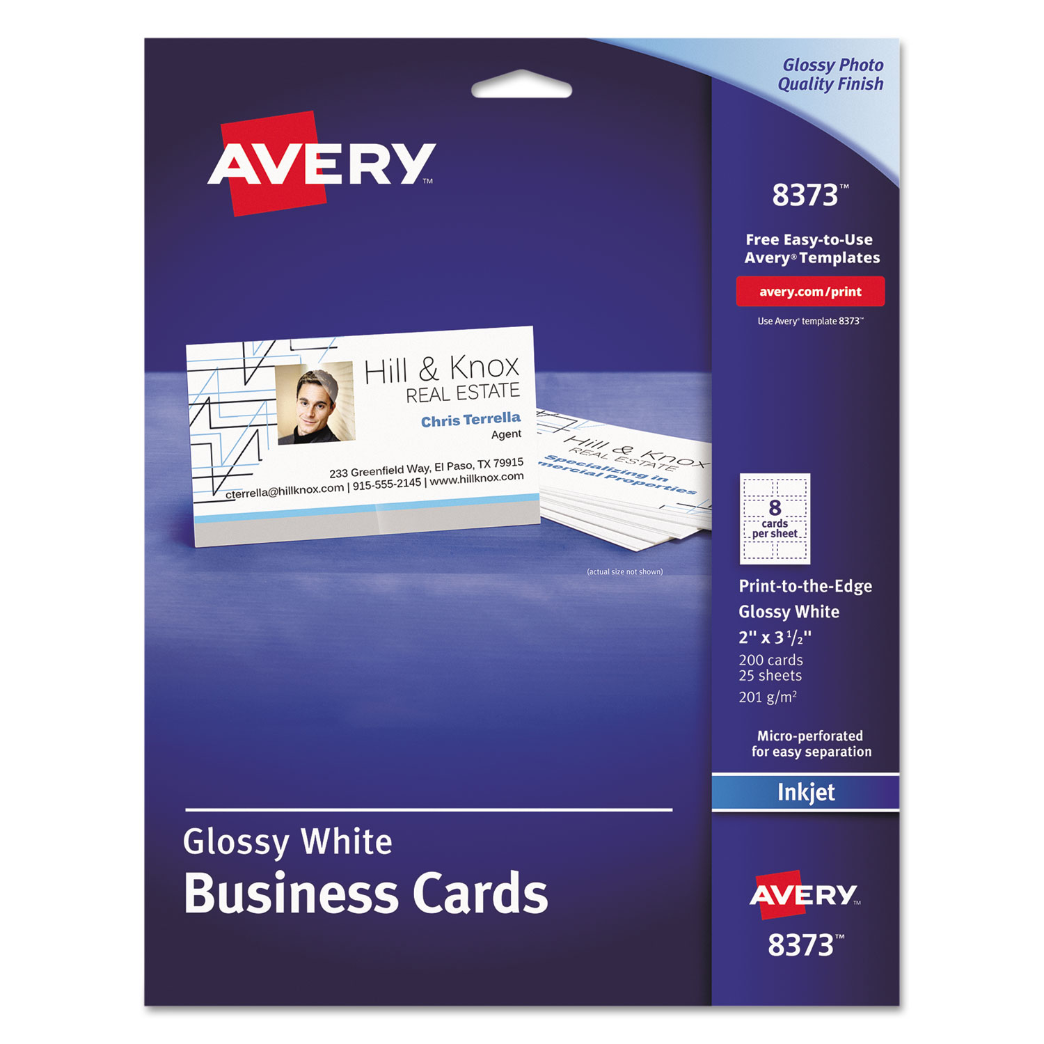 Print-to-the-Edge Microperf Business Cards by Avery® AVE8373 ...