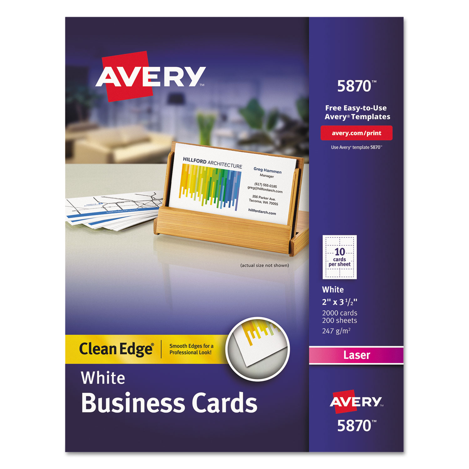 Clean Edge Business Card Value Pack by Avery® AVE5870 ...