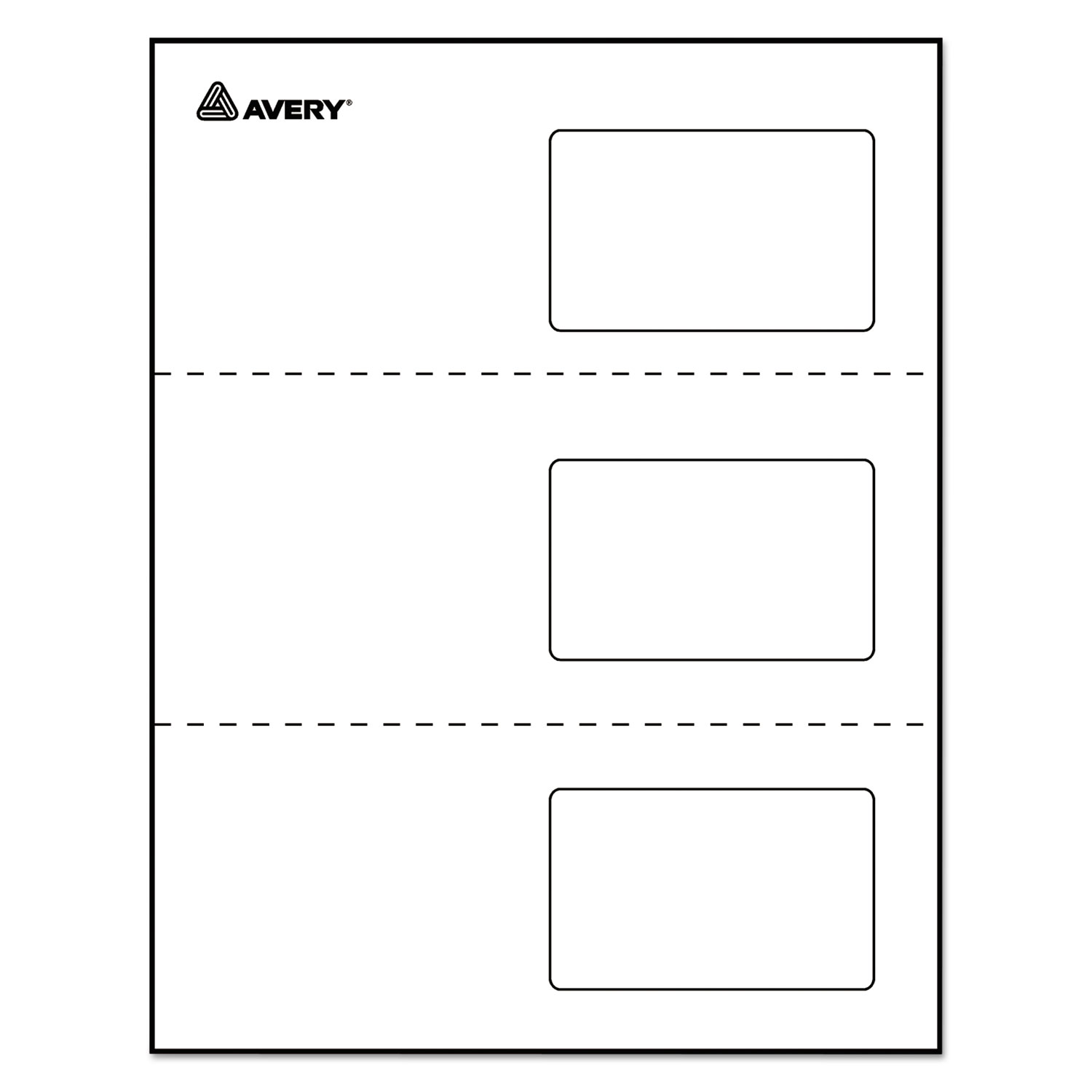 Laminated Laser/Inkjet ID Cards by Avery® AVE5361 - OnTimeSupplies.com
