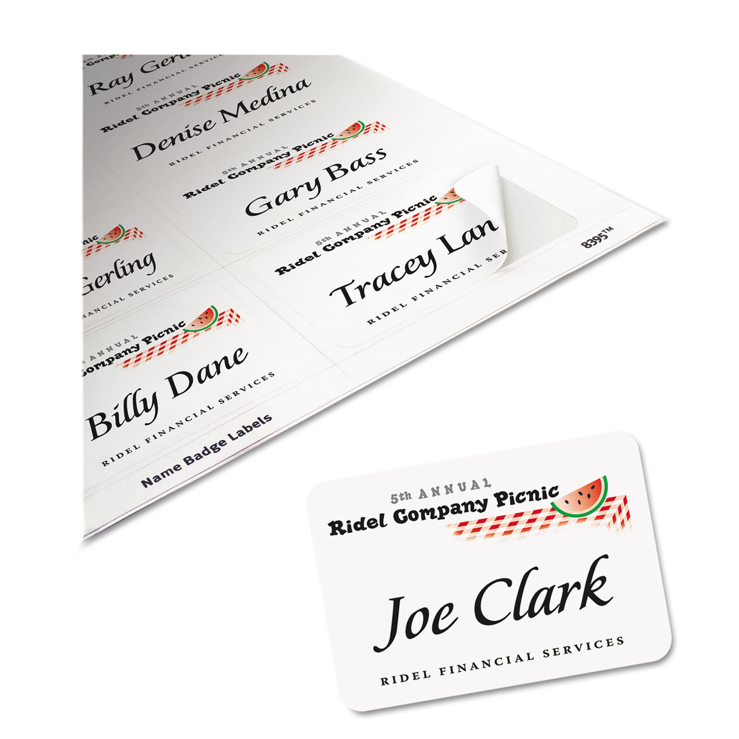 Flexible SelfAdhesive LaserInkjet Name Badge Labels By Avery - Officemax name badge template