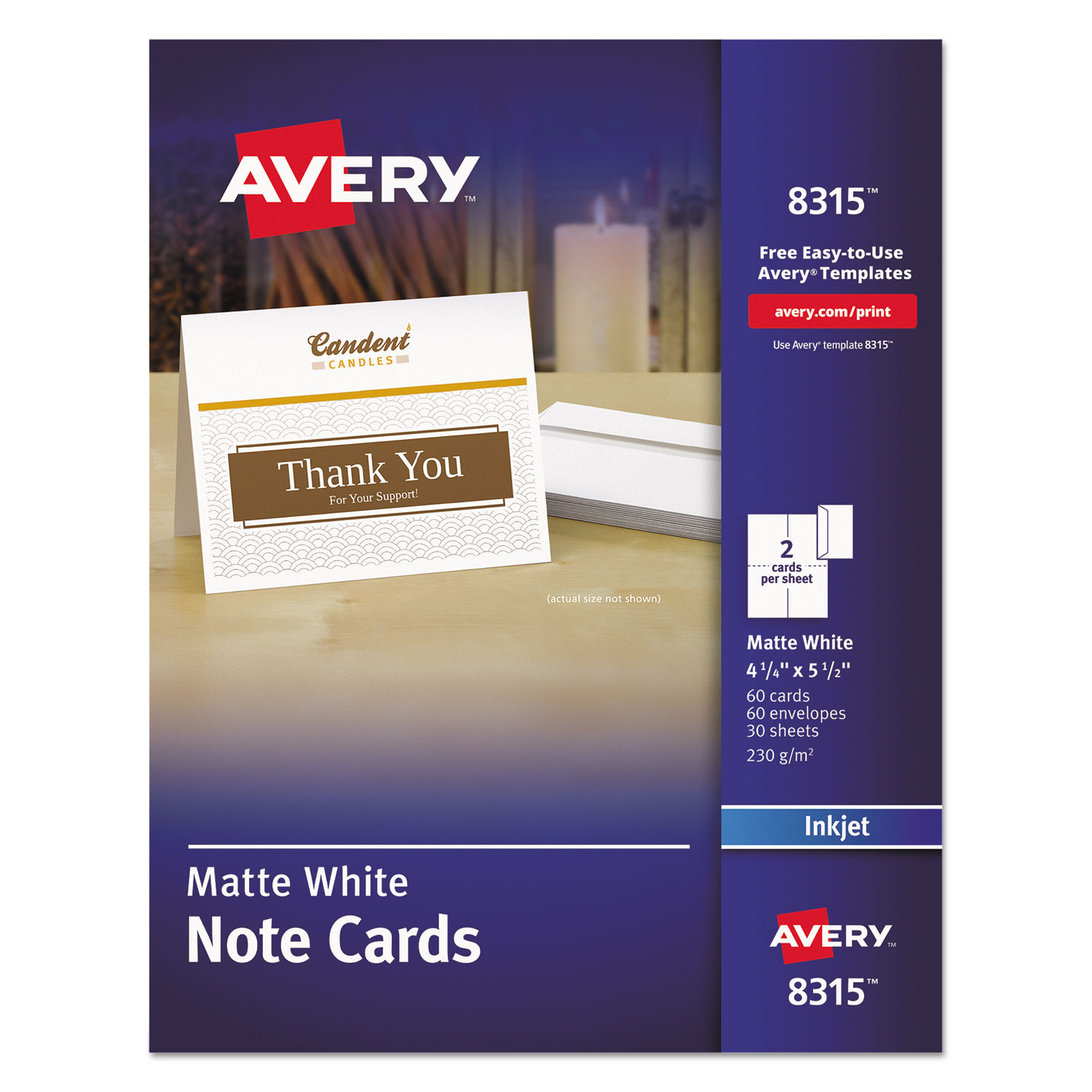 Note Cards For Inkjet Printers By Avery® AVE8315