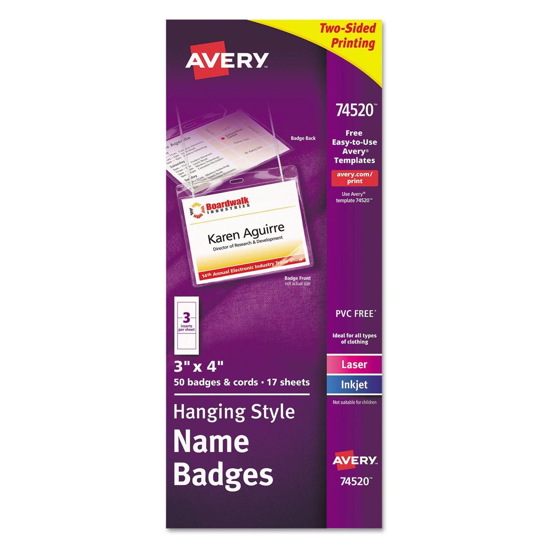 Necklace-Style Badge Holder w/Laser/Inkjet Insert, Top Load