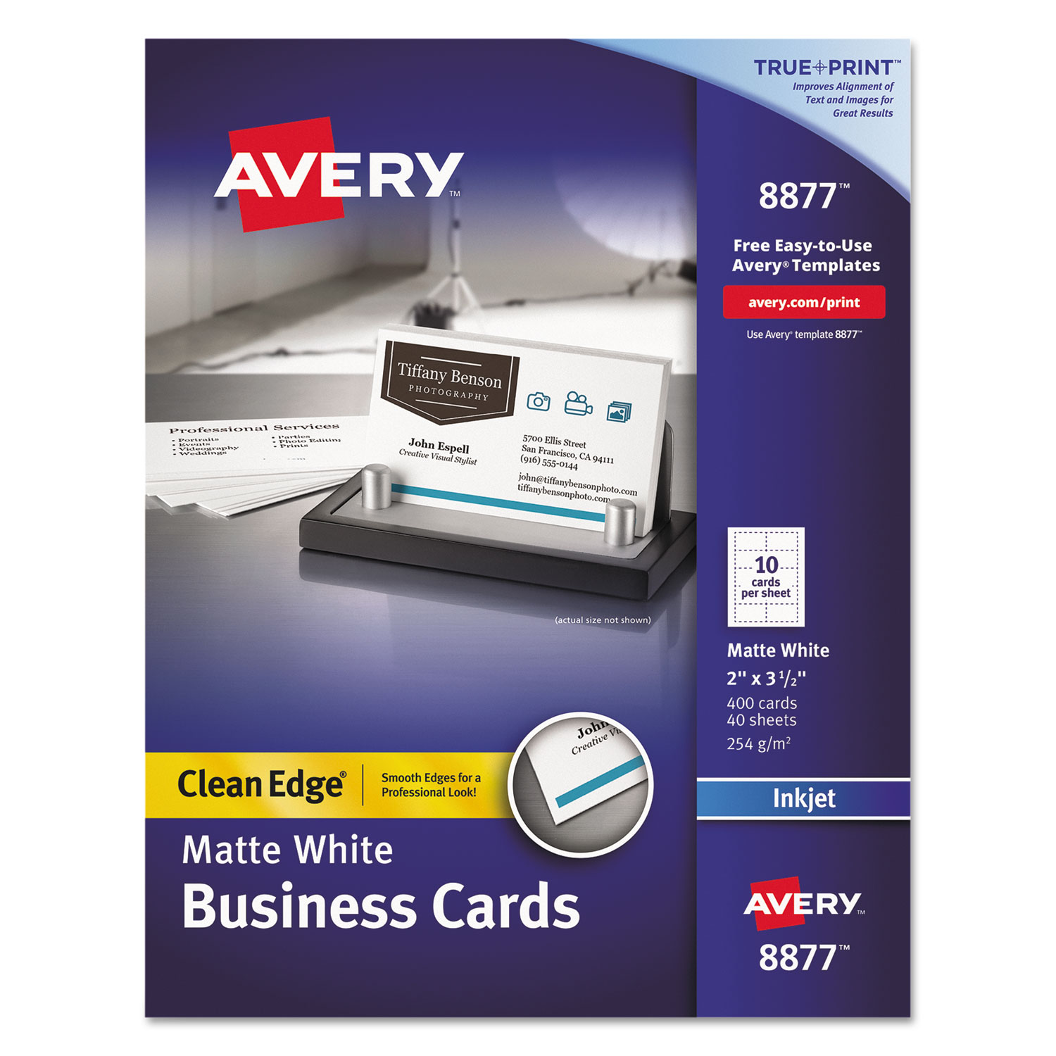 True print clean edge business cards by avery ave8877 ave8877 thumbnail 1 colourmoves