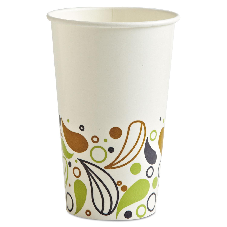 Deerfield Printed Paper Cold Cups, 16 oz, 20 Cups/Sleeve, 50 Sleeves/Carton