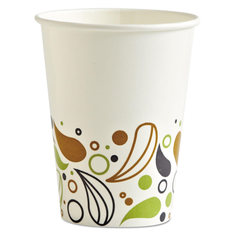 Deerfield Printed Paper Cold Cups, 12 oz, 20 Cups/Sleeve, 50 Sleeves/Carton