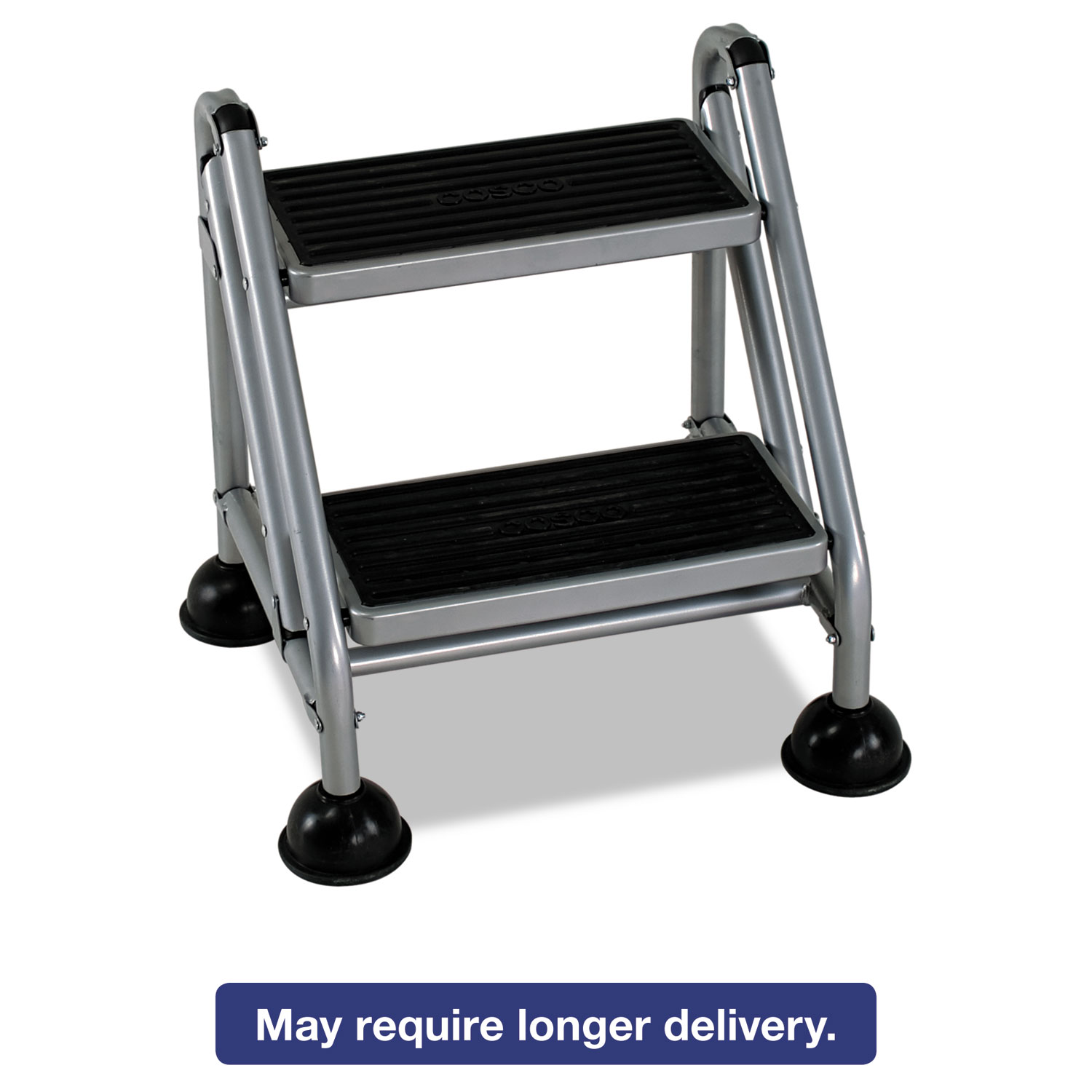 Rolling Commercial Step Stool By Cosco 174 Csc11824ggb1