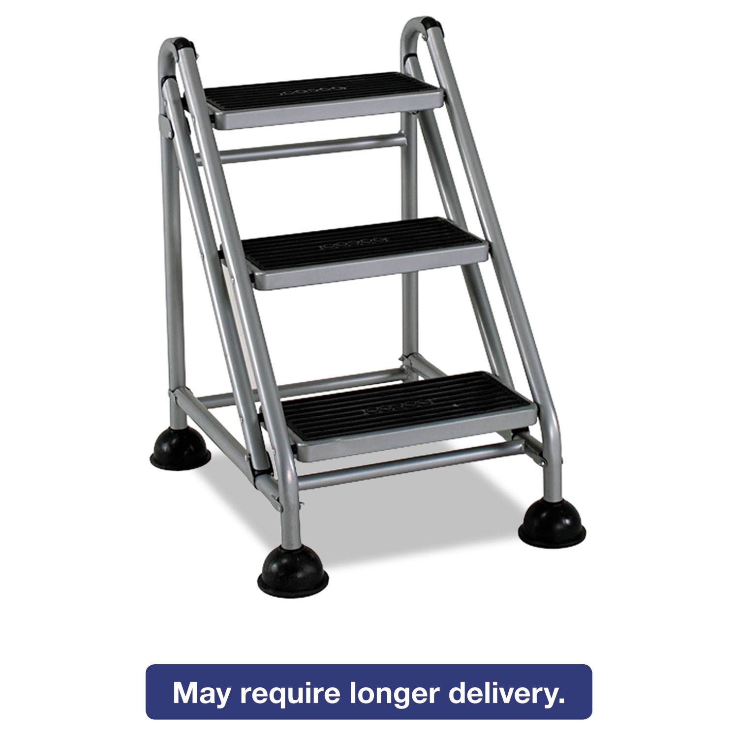 Rolling Commercial Step Stool By Cosco 174 Csc11834ggb1