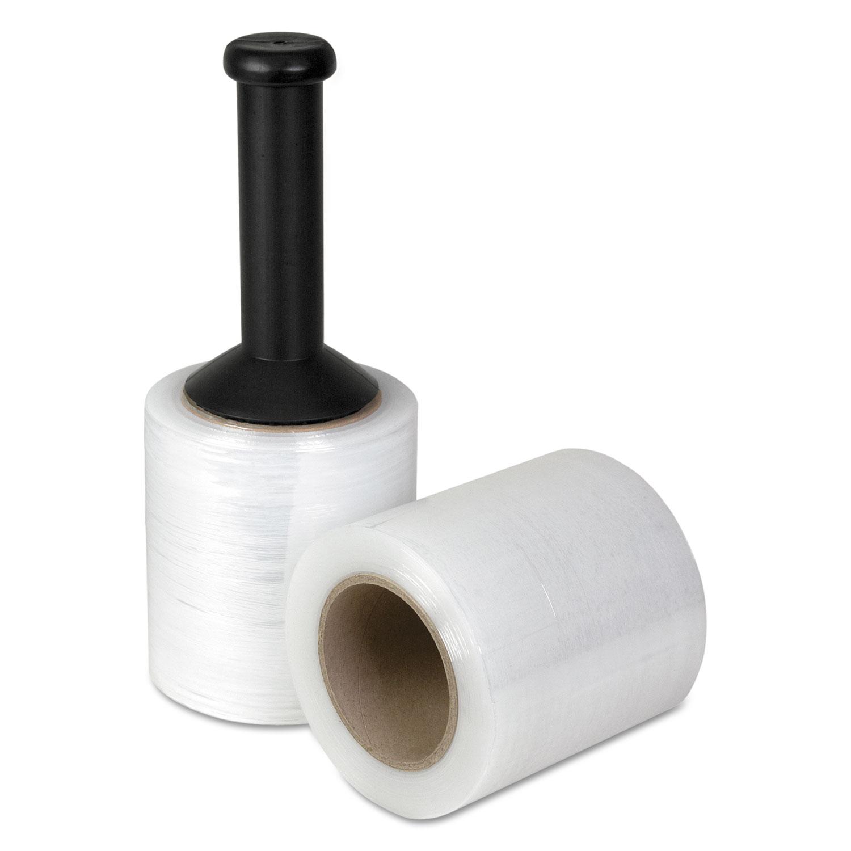 "Handwrap Stretch Film, 5"" x 1000 ft Roll, 20mic (80-Gauge), 12/Carton"