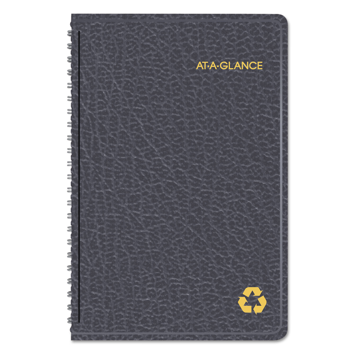 Recycled Weekly/Monthly Appointment Book, 4 7/8 x 8, Black, 2019