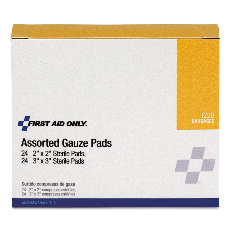 Gauze Pads, 2 x 2; 3 x 3, 48/Box